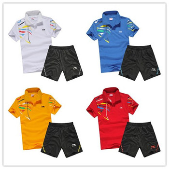 Free shipping2013 new Li Ning Tennis clothing cotton adult male and female models / primary table tennis clothes workout clothes