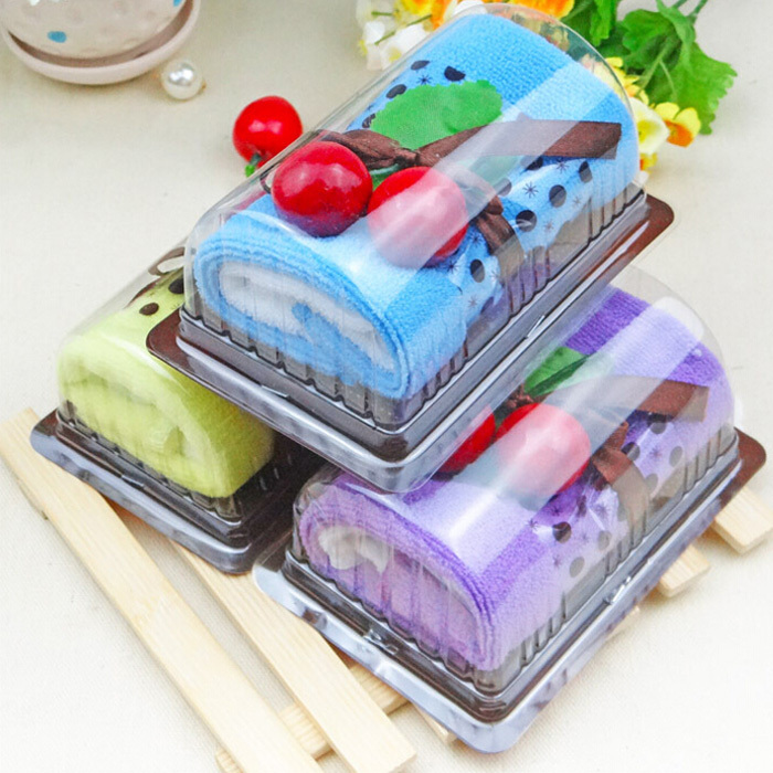 Lovely Fold Cake Washcloth Creative Bath Towel Cotton Wedding Party Favor Gift(China (Mainland))