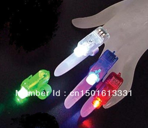 100pcs/lot LED Finger Light,Laser Finger,Beams Ring Torch For Party,wedding celebration mix color simple package(China (Mainland))