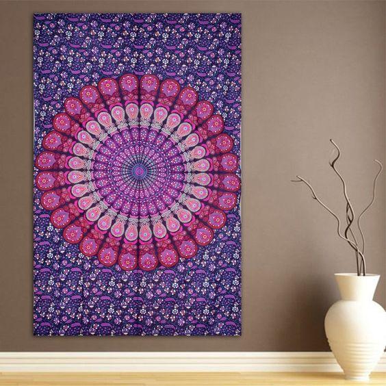 Indian Mandala Tapestry Hippie Home Decorative Wall Hanging Tapestries Boho Beach Towel Yoga Mat Bedspread Table Cloth 210x148cm