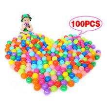 100Pcs Colorful Ball Ocean Balls Soft Plastic Ocean Ball Baby Kid Swim Pit Toy High Quality