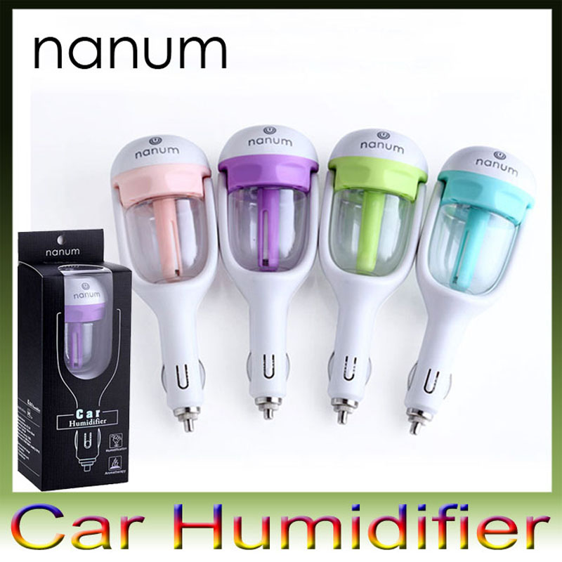 Nanum 12V Car charger air fresheners Aromatherapy Humidifiers High Quality Nebulizer Humidifier Mute Home Air Sterilization 1pcs(China (Mainland))