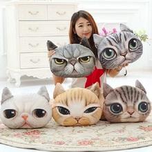 40cm*38cm New Pillow cushion Personality Car Cushion Creative Cat shape Nap pillow Cute seat cushion,SKU 1408S2C01(China (Mainland))