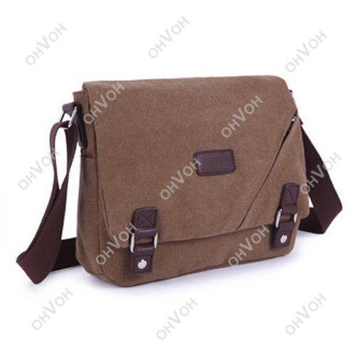 Men's Vintage Canvas Briefcase Shoulder Messenger Travel Hiking Bag Satchel(China (Mainland))