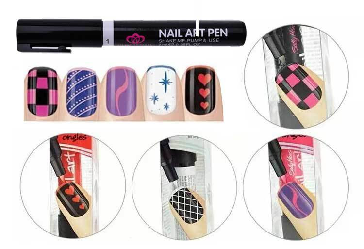 16 Color Nail Art Polish Painting Pen Manicure Design Tool Drawing for UV Gel Easy DIY Colorful(China (Mainland))
