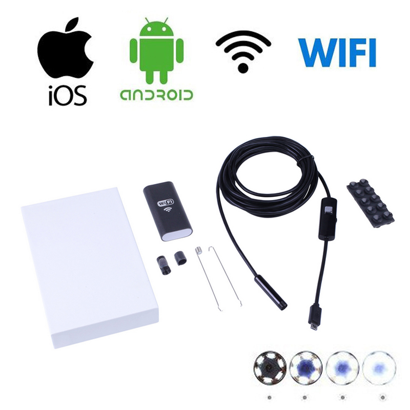 Iphone Endoscope HD 8mm WiFi Endoscope 3.5M Waterproof Inspection-00