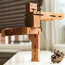 Новые Поступления Деревянный Куб Робот Творческая Магия DIY Сборки Головоломки Обучающие Логические Игрушки для Детей И Друзей