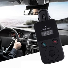 Hands-Free Bluetooth Car Kit FM Transmitter USB SD Card MP3 Player with Remote(China (Mainland))