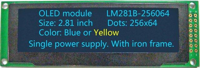 2.81 inch 256x64 OLED module