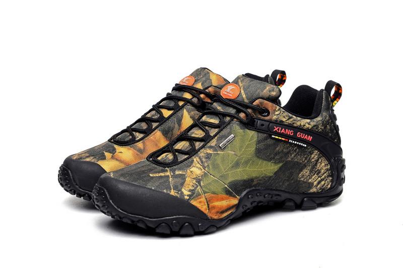 XIANGGUAN Man Hiking Shoes Men Waterproof Trekking Boots Army Green Zapatillas Sports Climbing Shoe Outdoor Walking Sneakers