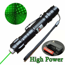High Power 5mW 532nm Powerful Green Laser Pointer Pen With 18650 Battery Burning Beam Light Lazer +Charger #83872(China (Mainland))