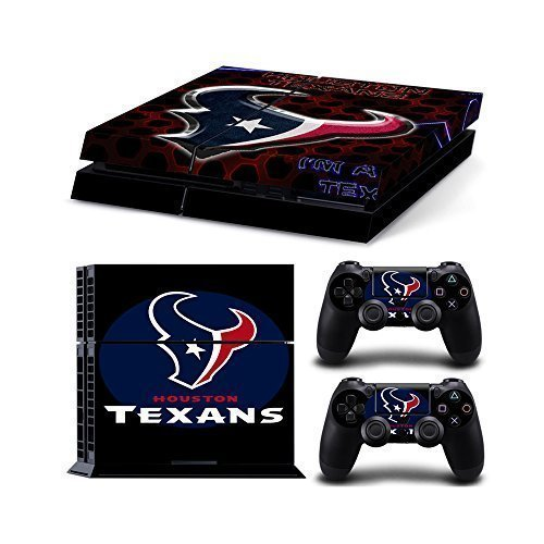 NFL 15 Teams AVAILABLE NFL Houston Texans ps4 skin Decal Skin Sticker for Playstation 4 PS4 + 2 Free Controller Covers 1 pc(China (Mainland))