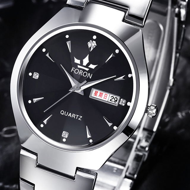 Swiss luxury loves watches imitation relogio invicta Genuine men and women watch Tungsten steel waterproof calendar(China (Mainland))