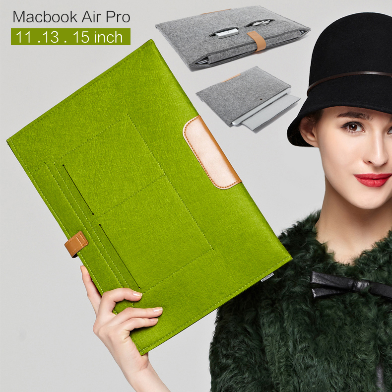 For Apple Macbook air 11 Computer Bag Laptop bags For MacBook Pro Air 11 12 13 15 inch laptop protective sleeve 11.6 13 15.4 bag(China (Mainland))