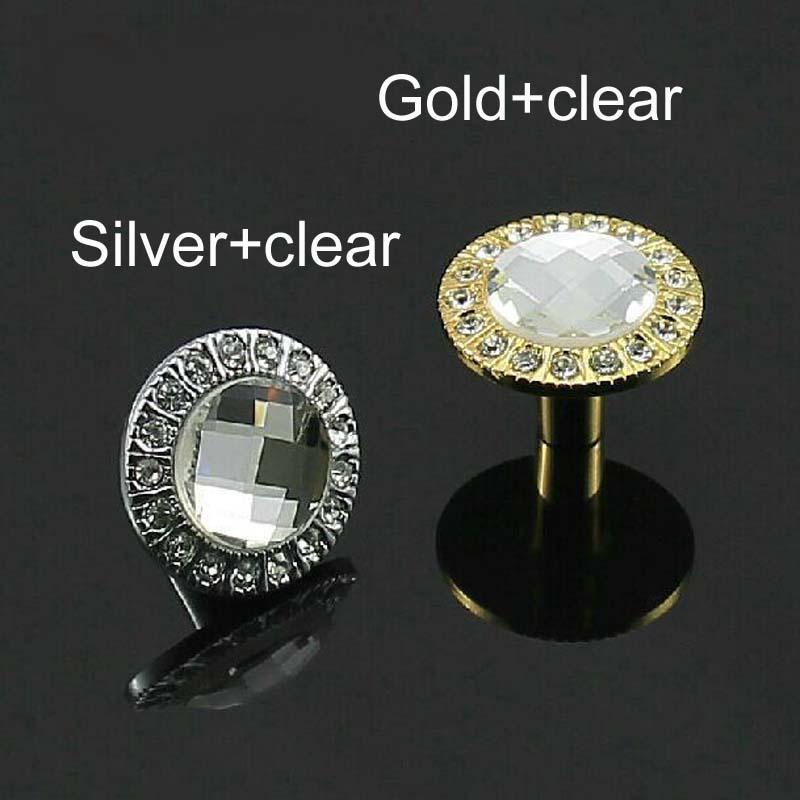 glass kitchen Cabinet knob crystal drawer pull silver gold Zinc Alloy Dresser cupboard Wardrobe Funrinture handle pull Knob(China (Mainland))