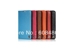 500pcs/lot  genuine real leather book style flip stand  case cover w/ card slot  for SS  Note 3 III colorful high quality(China (Mainland))