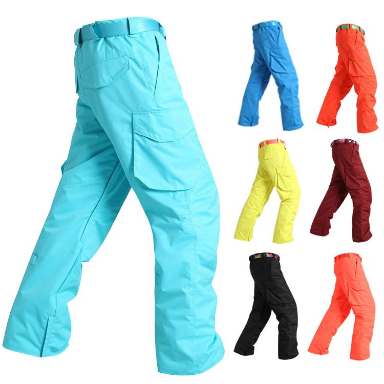 Mens ski pants Gsou snow men's skiing pants winter outdoor sports trousers waterproof 10K windproof thermal male skiing pants