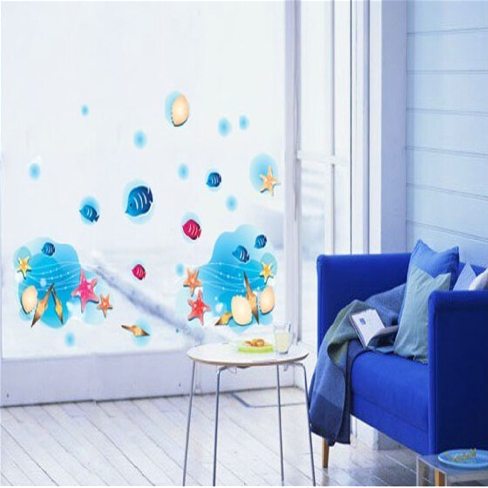 Buy AY953 Golden Sand Fish Bedroom Decorate Children Room Wa