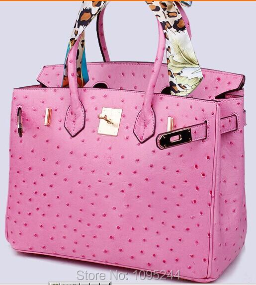 Japan Ru bag US Paris CA UK France new arrive original ostrich crocodile genuine leather women handbag bag lady big size casual(China (Mainland))