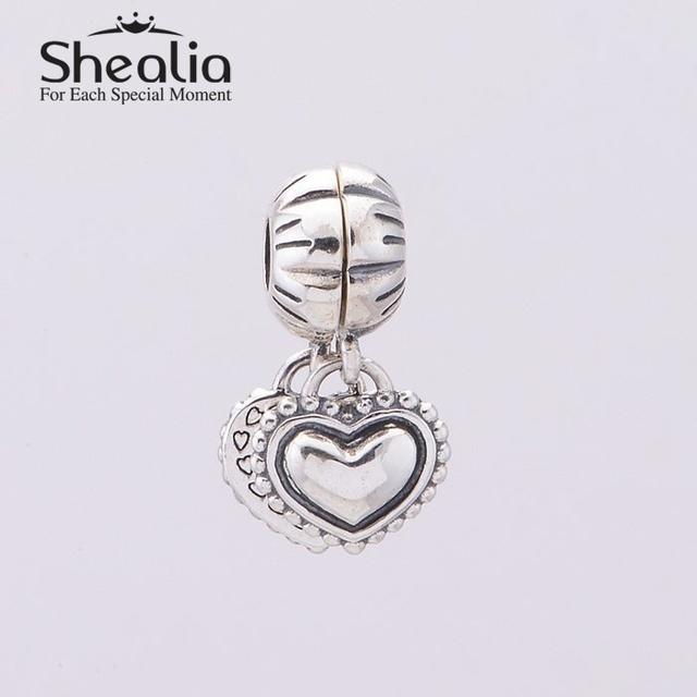 Shealia 925 любовь сестра в форме сердца качает подвески подвеска для женщин известный темы браслеты сделай сам ювелирное ER372