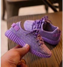 Girls fashion sneakers New autumn kids breathable sports shoes for boys girls princess flat shoes size 21-36(China (Mainland))