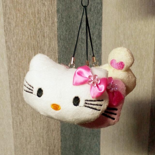 Новые прибытия 1 шт. 8 см симпатичные мягкие плюшевые подвеска детские куклы мягкая привет котенок / легко нести подарок для детей брелок BL1159
