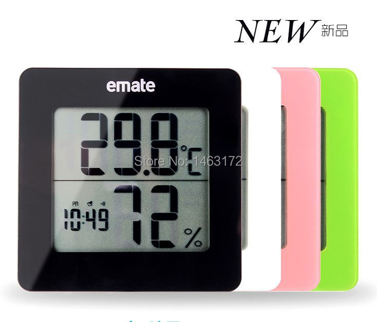 EMATE MO113H electronic clock creative mute small alarm clock, LCD, with backlight.(China (Mainland))