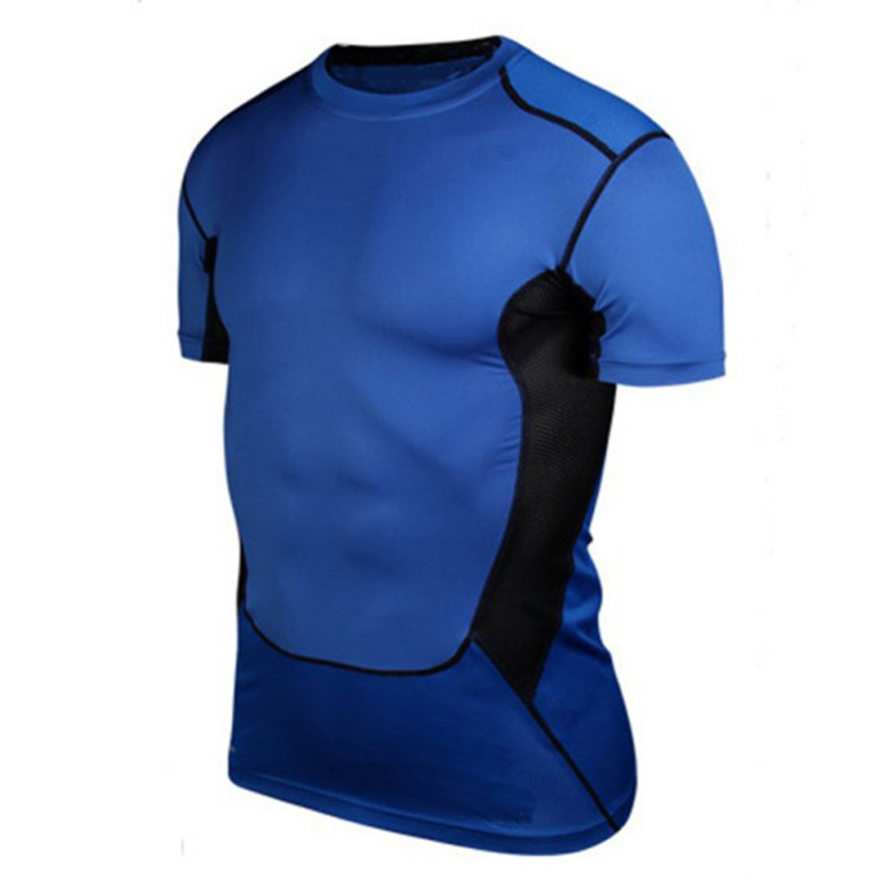 Men Compression Under Base Layer Top Tight Short Sleeve T-Shirt Sport Collection S-XXL
