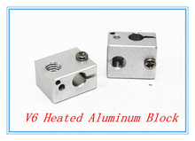 5pcs/lot Aluminium Heat Block for E3D V6 J-head 3D Printer,RepRap Makerbot MK7/MK8 Extruder 16mm*16mm*12mm