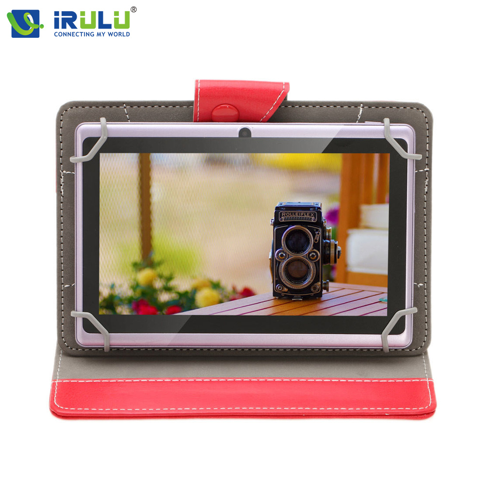iRULU eXpro X1 7'' Tablet Quad Core Android 4.4 Tablet Allwinner 16GB ROM Dual Cameras supports WiFi OTG with Leather case HOT(China (Mainland))
