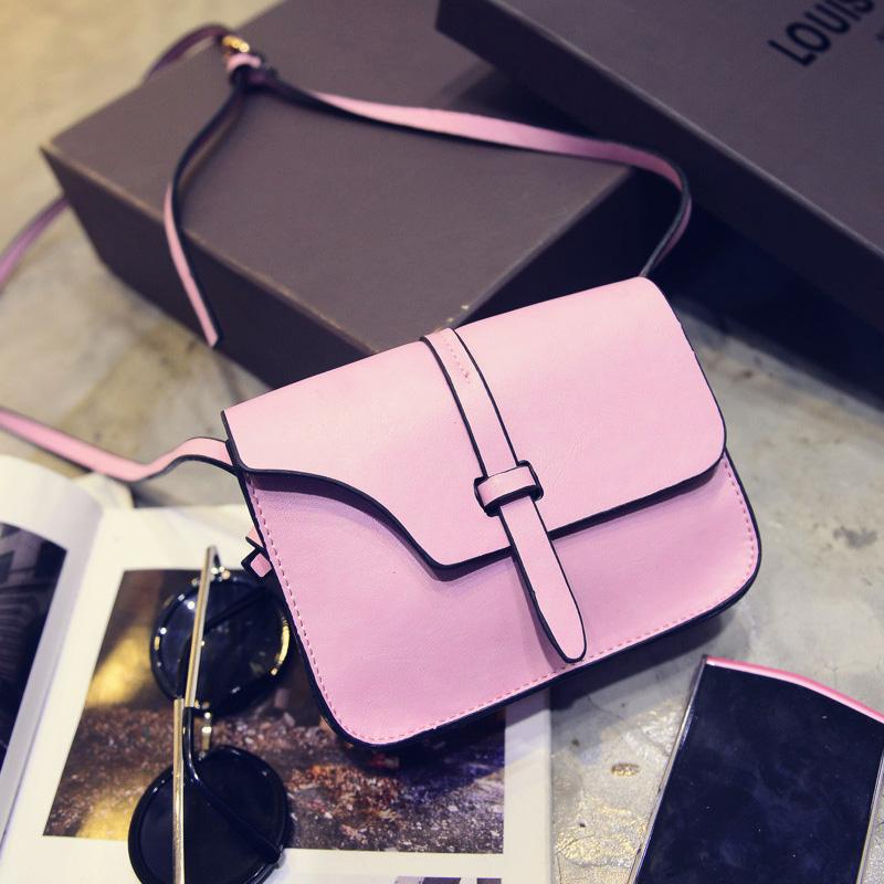 Solid color women's handbag autumn and winter vintage messenger bag fashion bag small women bags(China (Mainland))