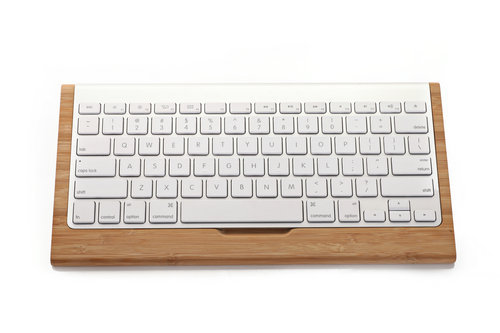2015 New Arrive Wooden Keyboard Stand Creative Wood for Apple G6 wireless keyboard base Holder For Apple iMac PC Computer(China (Mainland))