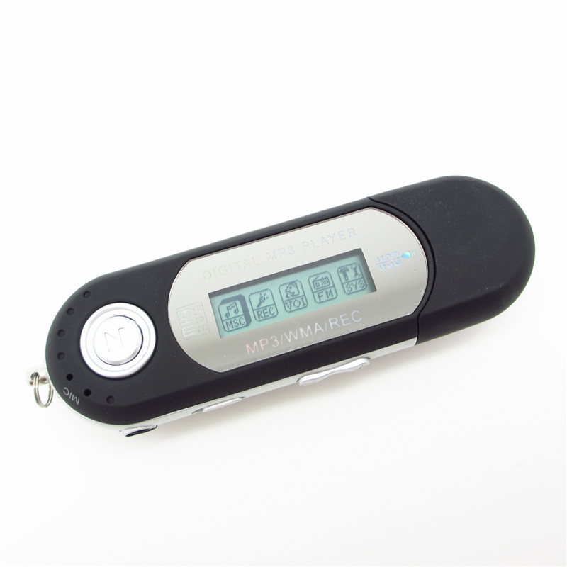 New 8GB Built-in supported USB Flash AAA battery MP3 Player with FM Radio & LCD Screen Record with headphone(China (Mainland))