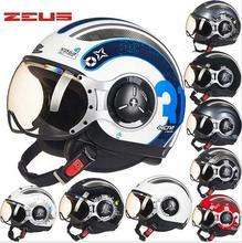 2016 New Taiwan ZEUS Half Face Motorcycle Helmet electric bicycle motorbike helmets Return to the ancients half helmet  (China (Mainland))
