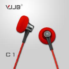 Original VJJB C1 Diy hifi metal earphones heatshrinked mobile phone computer sports mp3 bass headset without microphone