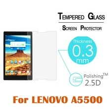 9H Hardness Anti-Shatter Premium Tempered Glass Screen Protector Film for Lenovo A5500 8″Film Clear Screen Protect Cover Guard