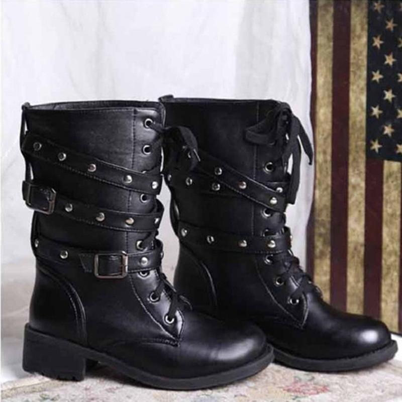 Ladies Combat Style Boots