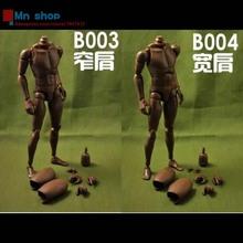 COOMODEL 1/6 Nude Action Figure Standard Muscle Man Narrow Shoulders Black Color B003/B004