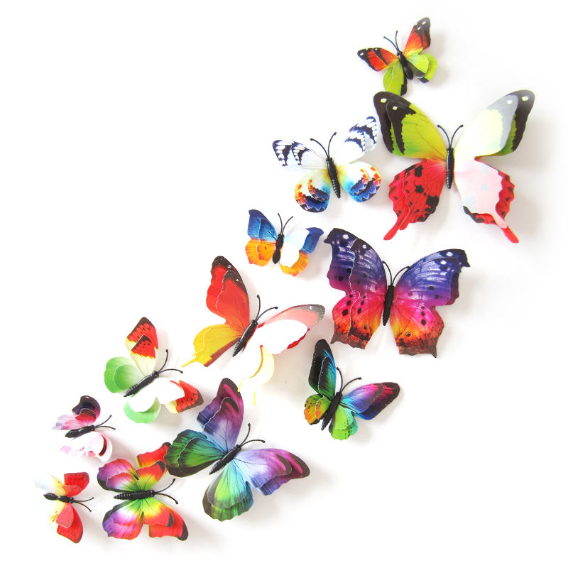 3d pvc butterfly wall stickers home decor butterfly modern stickers for kids bedroom wall for look beautiful