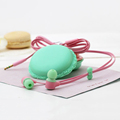 Cute Macaroon Mobile Phone 3 5mm in ear Earphones for IPhone 6 6s plus 5s for