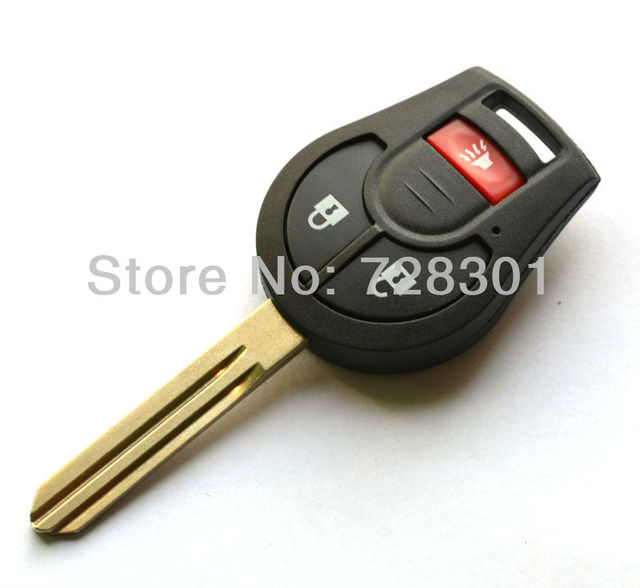 Replacement Case For Nissan Cube Juke Rogue Uncut Blade Blank Key Shell No Chip 3 Buttons Free Shipping