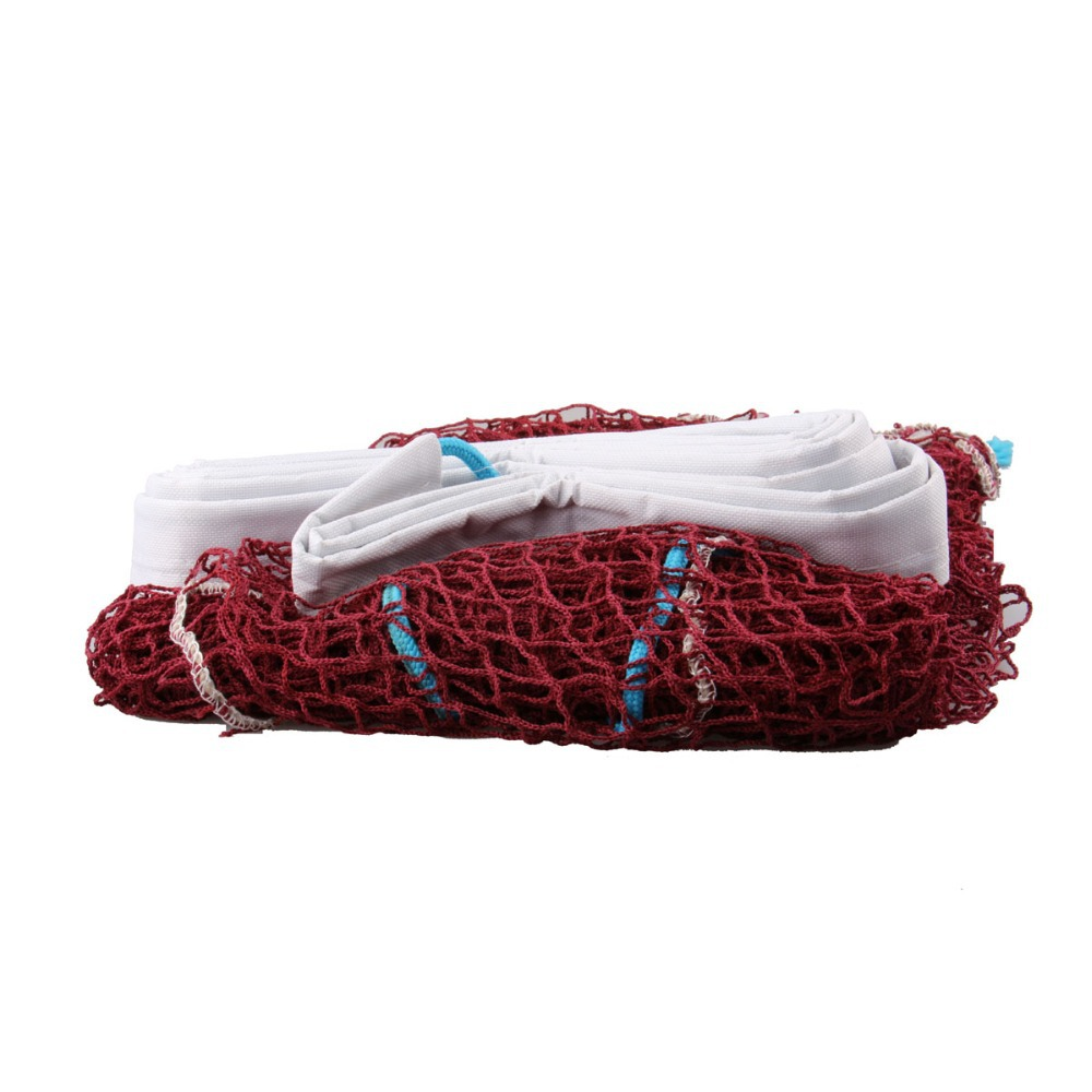 Free Shipping 100% new Standard Badminton Nets, Portable Rainproof, Professional Badminton Net 6.1*0.75M 059 Red Color(China (Mainland))