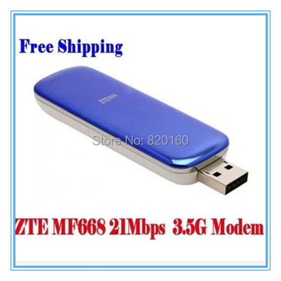 ZTE MF668 21Mbps Wireless 3.5G unlocked HSUPA Usb Modem,Hong Kong post free shipping(China (Mainland))