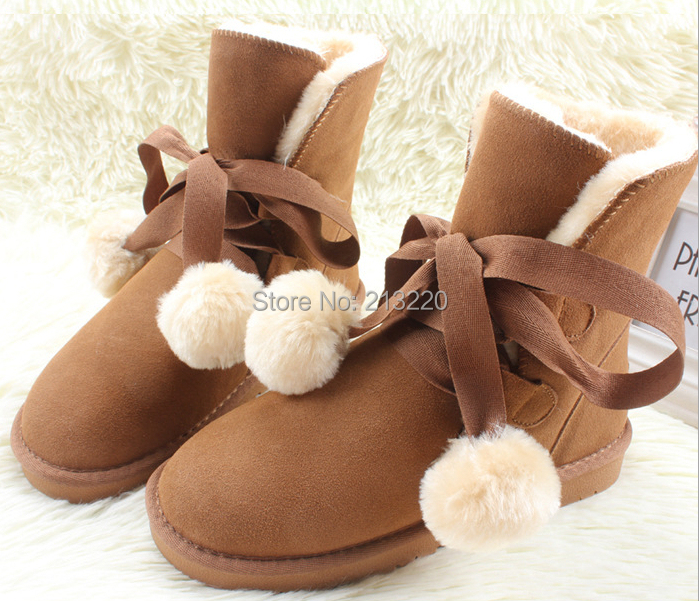Free Shipping Winter Woolen Lace Up Snow Women Boots Shoes ladies Leopard printed Brown Coffee Short Top Ankle Boots<br><br>Aliexpress