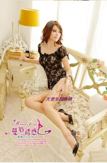 Free shipping 1pcs/lot 2013 hot sale  lady sexy underwear lingeria  costume sexy women lingeries lace chemise