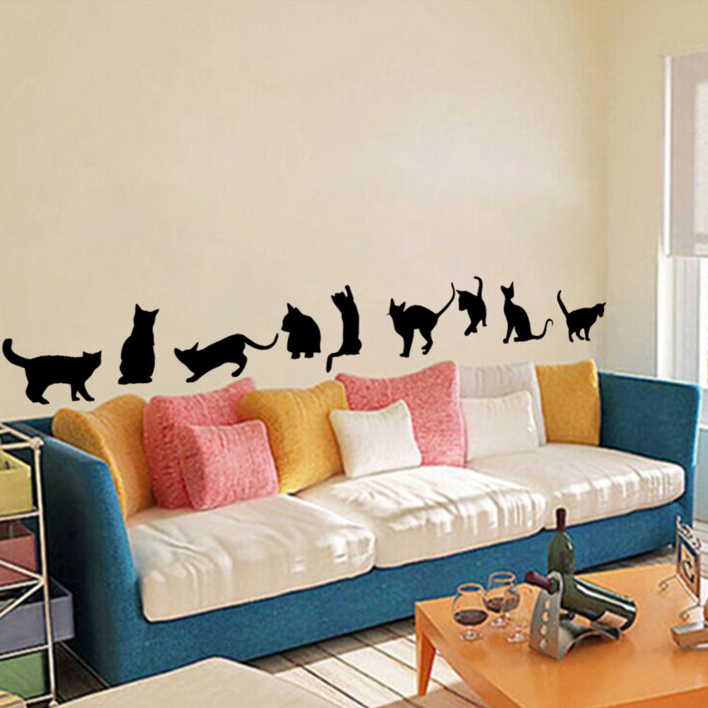 Buy 3d funny cat wall stickers home Funny bedroom