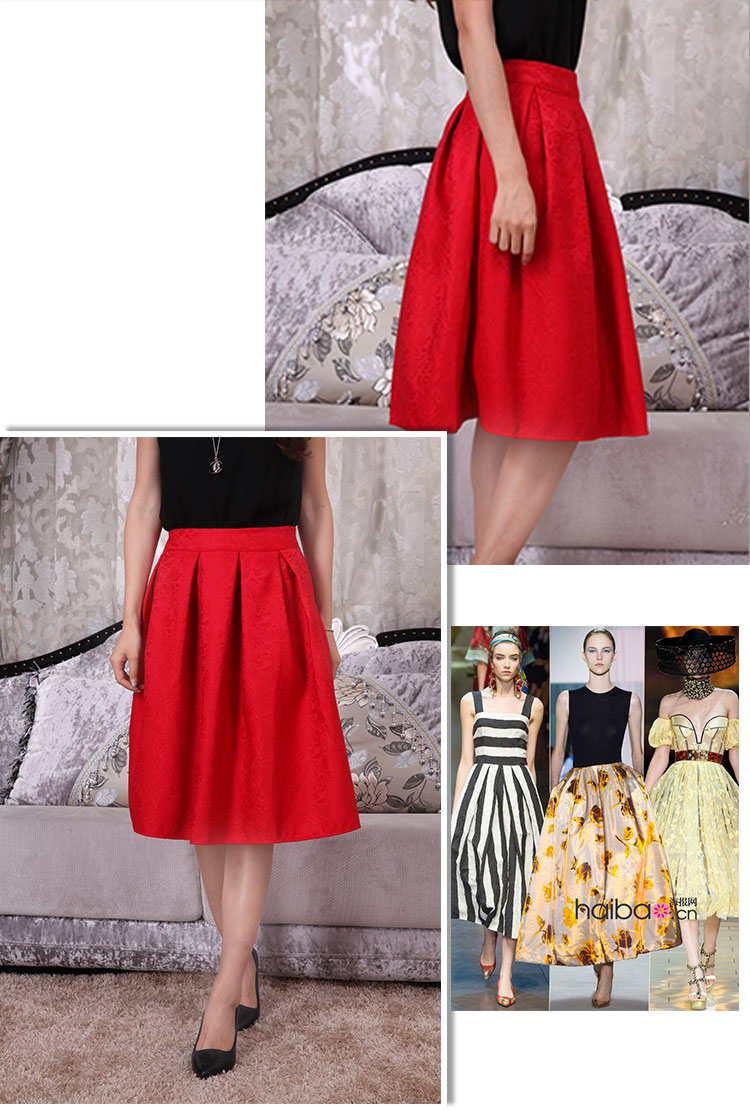 New Faldas 2016 Summer Style Vintage Skirt High Waist Work Wear Midi Skirts Womens Fashion American Apparel Jupe Femme Saias