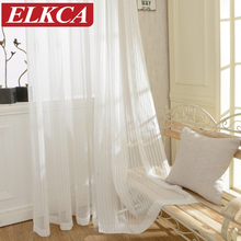 Modern Striped Tulle Curtains for Living Room Window Screening Voile Sheer Curtains for Living Room Bedroom Kids Curtains(China (Mainland))