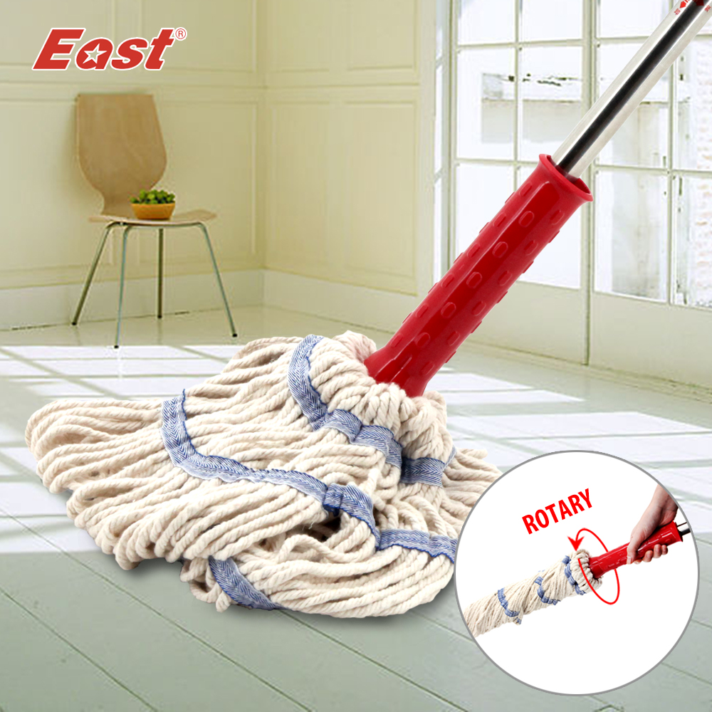East Cleaning Tools Rotary Spin Twist Rotating Mop with Cotton Yarn Head for Housekeeper Home Floor Cleaning(China (Mainland))