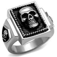 DC1989 Men Stainless Steel Ring High Polishing 316 Skull Rings Anti Black Color Environmental Friendly Material Lead Nickel Free(China (Mainland))